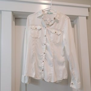 Maurice's button down style 250-271-BSP med. NWT